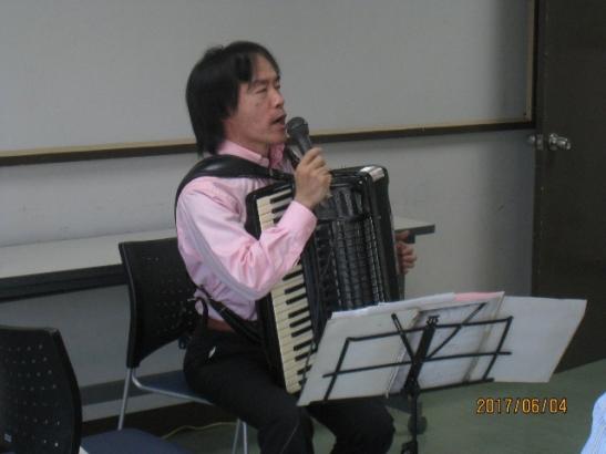 「ゲスト」アコーディオン演奏の事 2017.6.4